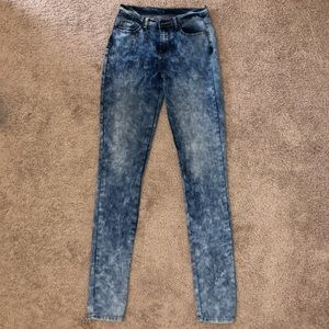 Alloy Apparel tie dye high waisted jeans 37 inseam